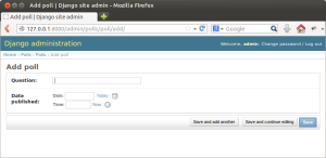 Django site admin - добавляем новый объект