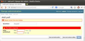 Django site admin - проверка введенных данных
