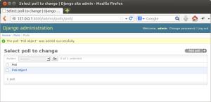 Django site admin - список объектов