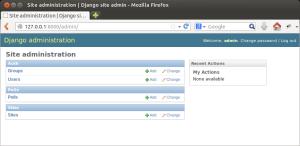 Django Site administration - добавляем наши модели