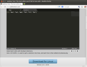 Sublime Text 2 download
