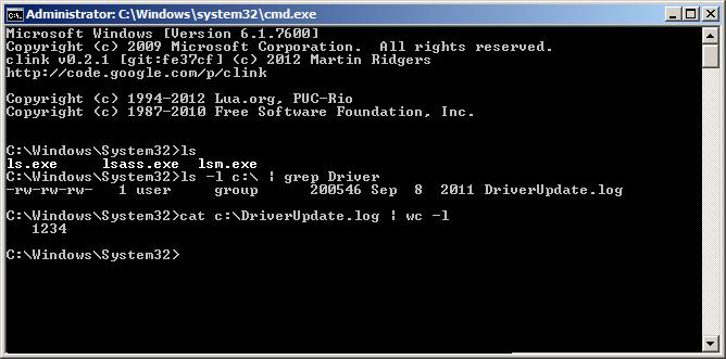 Linux утилиты в CMD